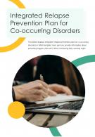 Bi Fold Integrated Relapse Prevention Plan For Co Occurring Disorders PDF PPT Template One Pager