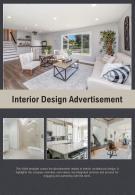 Bi Fold Interior Design Advertisement Document Report PDF PPT Template