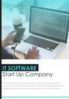 Bi Fold IT Software Start Up Company Document Report PDF PPT Template