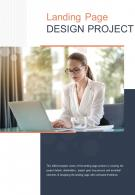 Bi Fold Landing Page Design Project Document Report PDF PPT Template One Pager