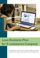 Bi Fold Lean Business Plan For E Commerce Company Document Report PDF PPT Template One Pager