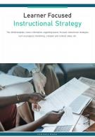 Bi Fold Learner Focused Instructional Strategy Document Report PDF PPT Template One Pager