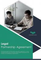Bi Fold Legal Partnership Agreement Document Report PDF PPT Template One Pager