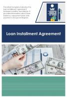 Bi Fold Loan Installment Agreement Document Report PDF PPT Template One Pager