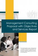Bi Fold Management Consulting Proposal With Objectives And Services Report Document PDF PPT Template One Pager