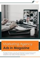 Bi Fold Marketing Agency Ads In Magazine Document Report PDF PPT Template