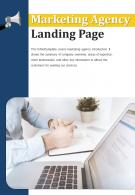 Bi Fold Marketing Agency Landing Page Document Report PDF PPT Template One Pager