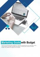 Bi Fold Marketing Goals With Budget Document Report PDF PPT Template One Pager