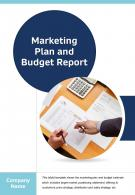Bi Fold Marketing Plan And Budget Report Document PDF PPT Template One Pager