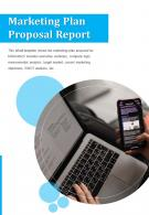 Bi Fold Marketing Plan Proposal Report Document PDF PPT Template One Pager