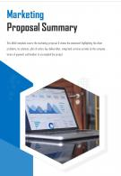 Bi Fold Marketing Proposal Summary Document Report PDF PPT Template One Pager