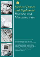 Bi Fold Medical Device And Equipment Business And Marketing Plan Document Report PDF PPT Template