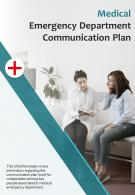 Bi Fold Medical Emergency Department Communication Plan Document PDF PPT Template One Pager