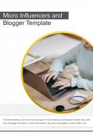 Bi Fold Micro Influencers And Blogger Template Document Report PDF PPT One Pager