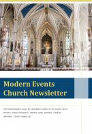 Bi Fold Modern Events Church Newsletter Document Report PDF PPT Template One Pager