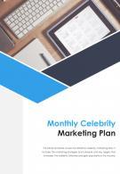 Bi Fold Monthly Celebrity Marketing Plan Document Report PDF PPT Template