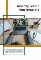 Bi Fold Monthly Lesson Plan Template Document Report PDF PPT One Pager