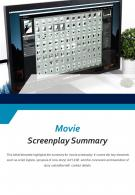 Bi Fold Movie Screenplay Summary Document Report PDF PPT Template One Pager
