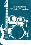Bi Fold Music Band Website Document Report PDF PPT Template