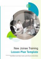 Bi Fold New Joinee Training Lesson Plan Template Document Report PDF PPT One Pager