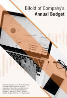 Bi Fold Of Companys Annual Budget Document Report PDF PPT Template