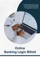 Bi Fold Online Banking Login Document Report PDF PPT Template