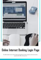 Bi Fold Online Internet Banking Login Page Document Report PDF PPT Template