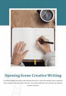 Bi Fold Opening Scene Creative Writing Document Report PDF PPT Template One Pager