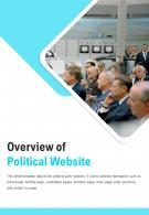 Bi Fold Overview Of Political Website Document Report PDF PPT Template One Pager