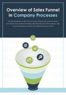 Bi Fold Overview Of Sales Funnel In Company Processes Document PDF PPT Template One Pager