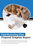 Bi Fold Paid Marketing Plan Proposal Template Report Document PDF PPT One Pager