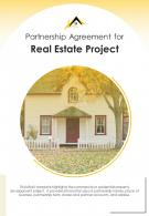 Bi Fold Partnership Agreement For Real Estate Project Document Report PDF PPT Template