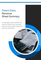 Bi Fold Patent Sales Revenue Sheet Summary Document Report PDF PPT Template One Pager
