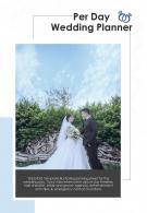 Bi Fold Per Day Wedding Planner Document Report PDF PPT Template