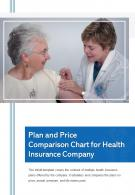 Bi Fold Plan And Price Comparison Chart For Health Insurance Company PDF PPT Template One Pager