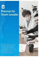 Bi Fold Planner For Team Leader Document Report PDF PPT Template
