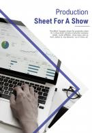 Bi Fold Production Sheet For A Show Document Report PDF PPT Template