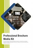 Bi Fold Professional Brochure Media Kit Document Report PDF PPT Template One Pager