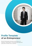 Bi Fold Profile Template Of An Entrepreneur Document Report PDF PPT Template One Pager