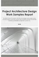 Bi Fold Project Architecture Design Work Samples Document Report PDF PPT Template