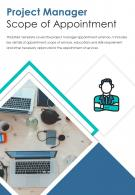 Bi Fold Project Manager Scope Of Appointment Document Report PDF PPT Template