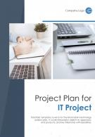 Bi Fold Project Plan For IT Project Document Report PDF PPT Template One Pager