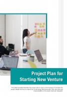 Bi Fold Project Plan For Starting New Venture Document Report PDF PPT Template One Pager