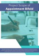 Bi Fold Project Scope Of Appointment Document Report PDF PPT Template