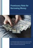 Bi Fold Promissory Note For Borrowing Money Document Report PDF PPT Template