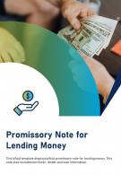 Bi Fold Promissory Note For Lending Money Document Report PDF PPT Template