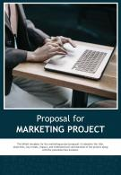 Bi Fold Proposal For Marketing Project Document Report PDF PPT Template