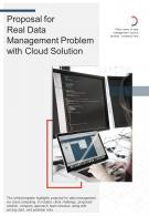 Bi Fold Proposal For Real Data Management Problem With Cloud Solution PDF PPT Template One Pager