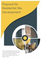 Bi Fold Proposal For Residential Site Development PDF PPT Template One Pager