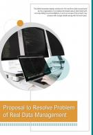 Bi Fold Proposal To Resolve Problem Of Real Data Management Document PDF PPT Template One Pager